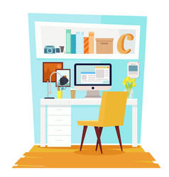 cabinet office interior vector image