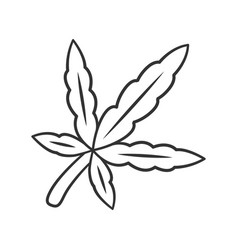 Cannabis leaf linear icon weed product ganja vector