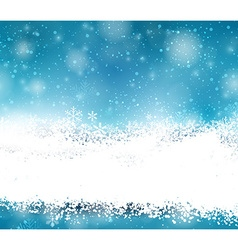 Christmas background with fallen snowflakes vector image