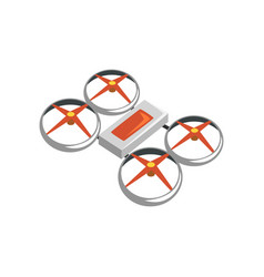 Colorful icon of flying quadrocopter unmanned vector