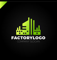 construction firm factory or manifacture logo vector image