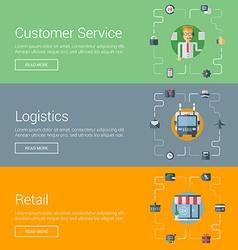 Customer Service Logistics Retail Flat Design vector image