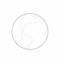 Earth icon in outline style vector image