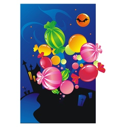 explosion from sweets vector image vector image