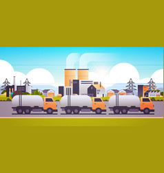 factory building industrial zone with gas or oil vector image