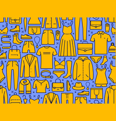 fashion seamless background shopping clothing vector image