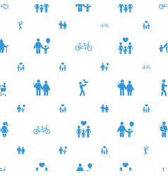 Father icons pattern seamless white background vector