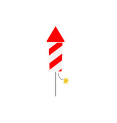 firecracker icon design template isolated vector image