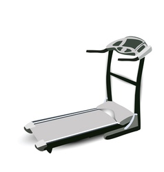 Fitness walking machine vector