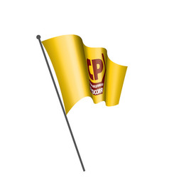 flag russian political party fair russia vector image