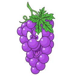 Fresh grapes cartoon vector