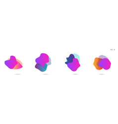 gradient abstract banners with flowing liquid vector image