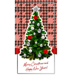 Happy-new-year-and-merry-christmas-houndstooth-3 vector