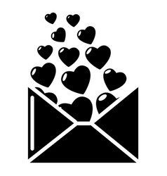 heart letter icon simple style vector image