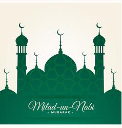 Islamic milad un nabi festival card design vector
