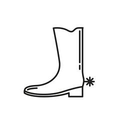 jangle cowboy shoe thin line icon design vector image