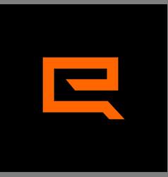 letter initial e logo design template vector image