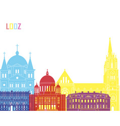 Lodz skyline pop vector