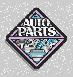 Logo for auto parts vector
