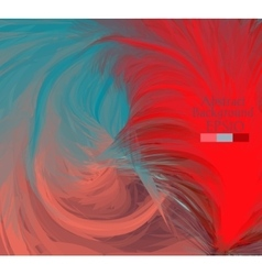 Macro feathers turquoise red dirty pink vector