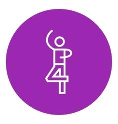 Male figure skater line icon vector