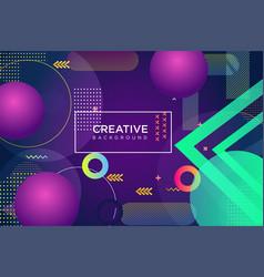 Minimal geometric background colorful halftone vector