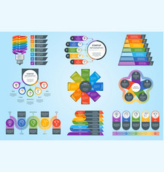 Modern timeline infographics vector