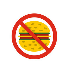 No fast food icon flat style vector