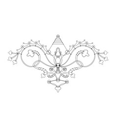 ornament from a button connected threads vector image