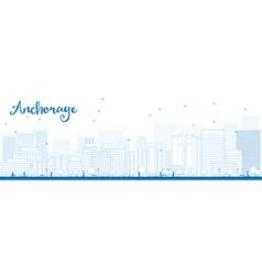 Outline anchorage alaska vector