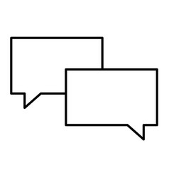 outline speech bubble message talk vector image