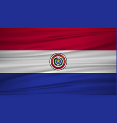paraguay flag flag of paraguay blowig in the vector image