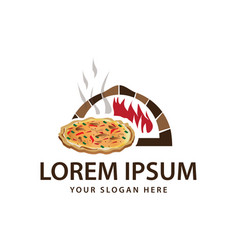Pizza shop logo vector