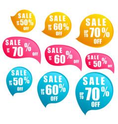 sale - stickers set season sales sign best price vector image