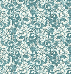 seamless beige floral pattern in style of vector image