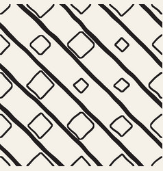 Seamless childlike pattern monochrome hand vector