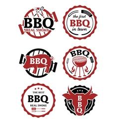 set of bbq labels vector image