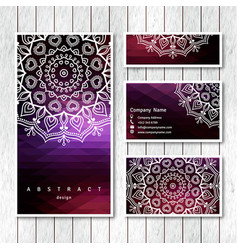 Set of business visiting greeting cards vector