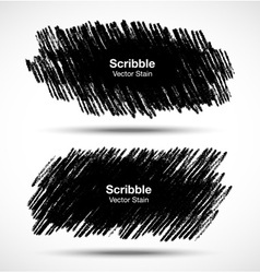 Set of Scribble stains Hand drawn in pencil vector image