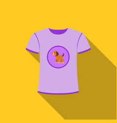 Shirt i love dogs icon in flat style for vector