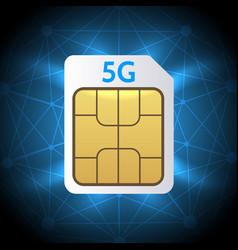 sim card 5g vector image