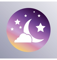 Sleep icon flat vector