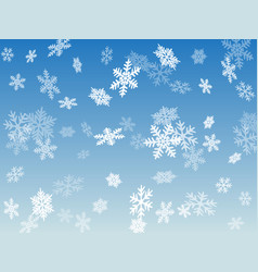 snow flakes falling macro background vector image