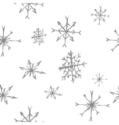 snowflakes seamless pattern bw vector image