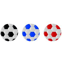 soccer balls icon vector image