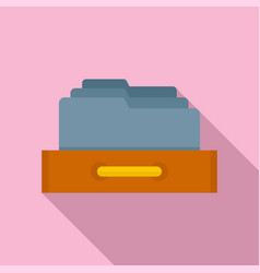 Storage office folders icon flat style vector