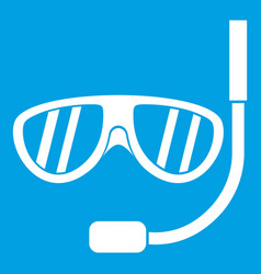 Swimming mask icon white vector