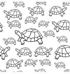 Turtle contour pattern vector