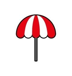 Umbrella striped summer vacation pool icon vector