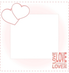 Valentine Day card with two hearts vector image